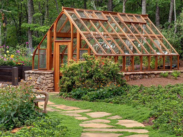 Custom built garden greenhouse